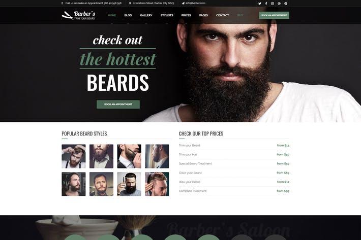 WordPress Theme for Barbers & Hair Salons