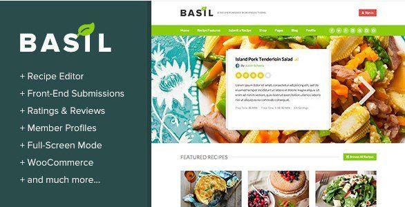 WordPress Recipes Theme