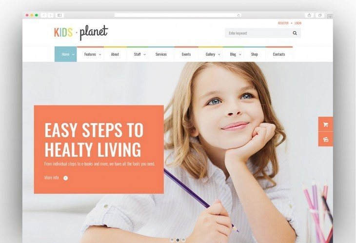 Multipurpose Children WordPress Theme for Kindergarten and Playgroup
