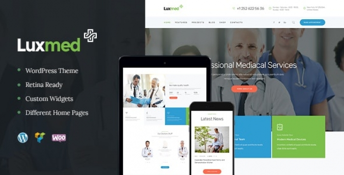 Medicine & Healthcare Doctor WordPress Theme