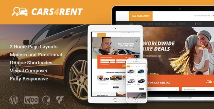 Auto Rental & Taxi Service WordPress Theme