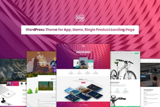WordPress Theme for App, Game, Single Product Landing Page