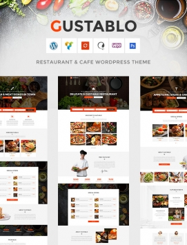 Restaurant & Cafe Responsive WordPress Theme