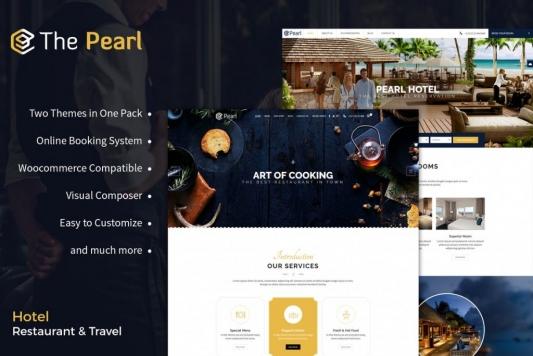Restaurant and Hotel WordPress Theme