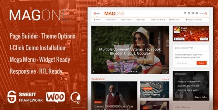 Responsive Magazine & News WordPress Theme