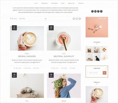 Personal WordPress Blog Theme