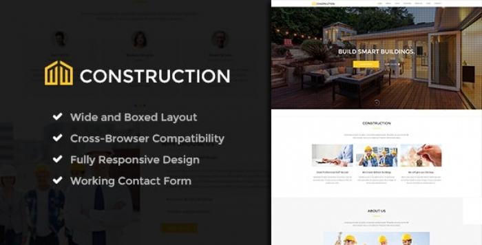 Business & Building Company WordPress Theme