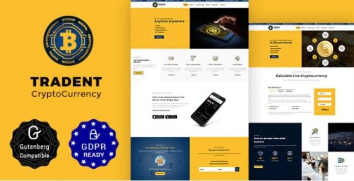 Cryptocurrency, Bitcoin WordPress Theme