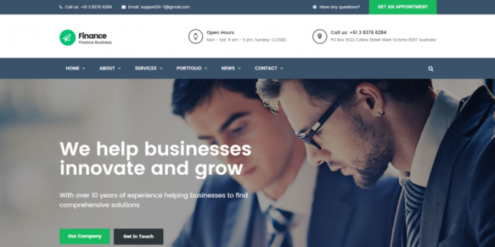 Consulting, Accounting WordPress Theme