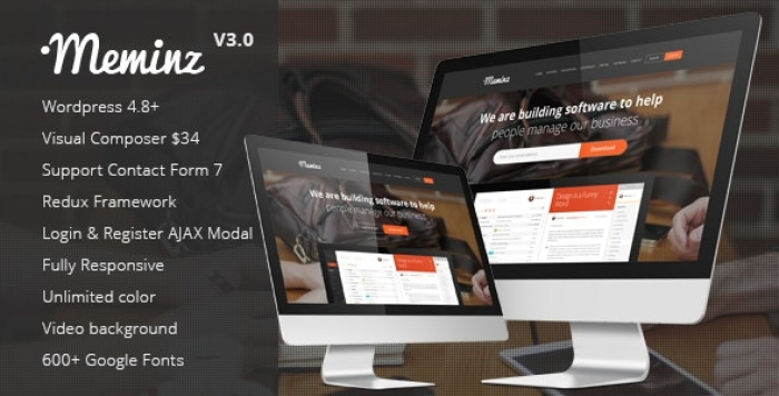Download Software Landing Page Theme